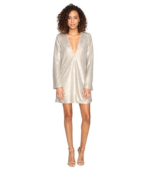 The Jetset Diaries Gold Diamond Long Sleeve Dress