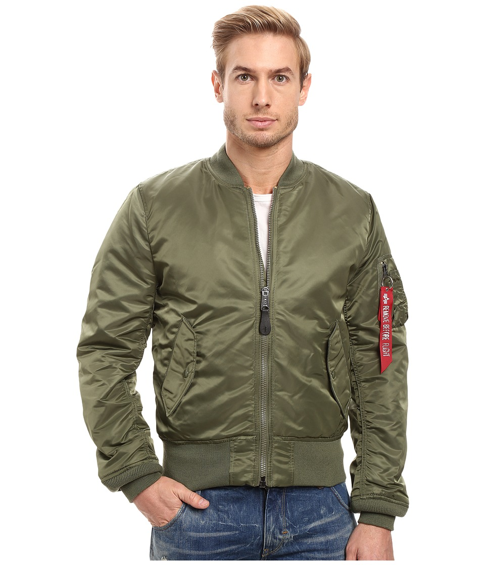 Alpha Industries - MA-1 Slim Fit Flight Jacket (Sage) Mens Coat