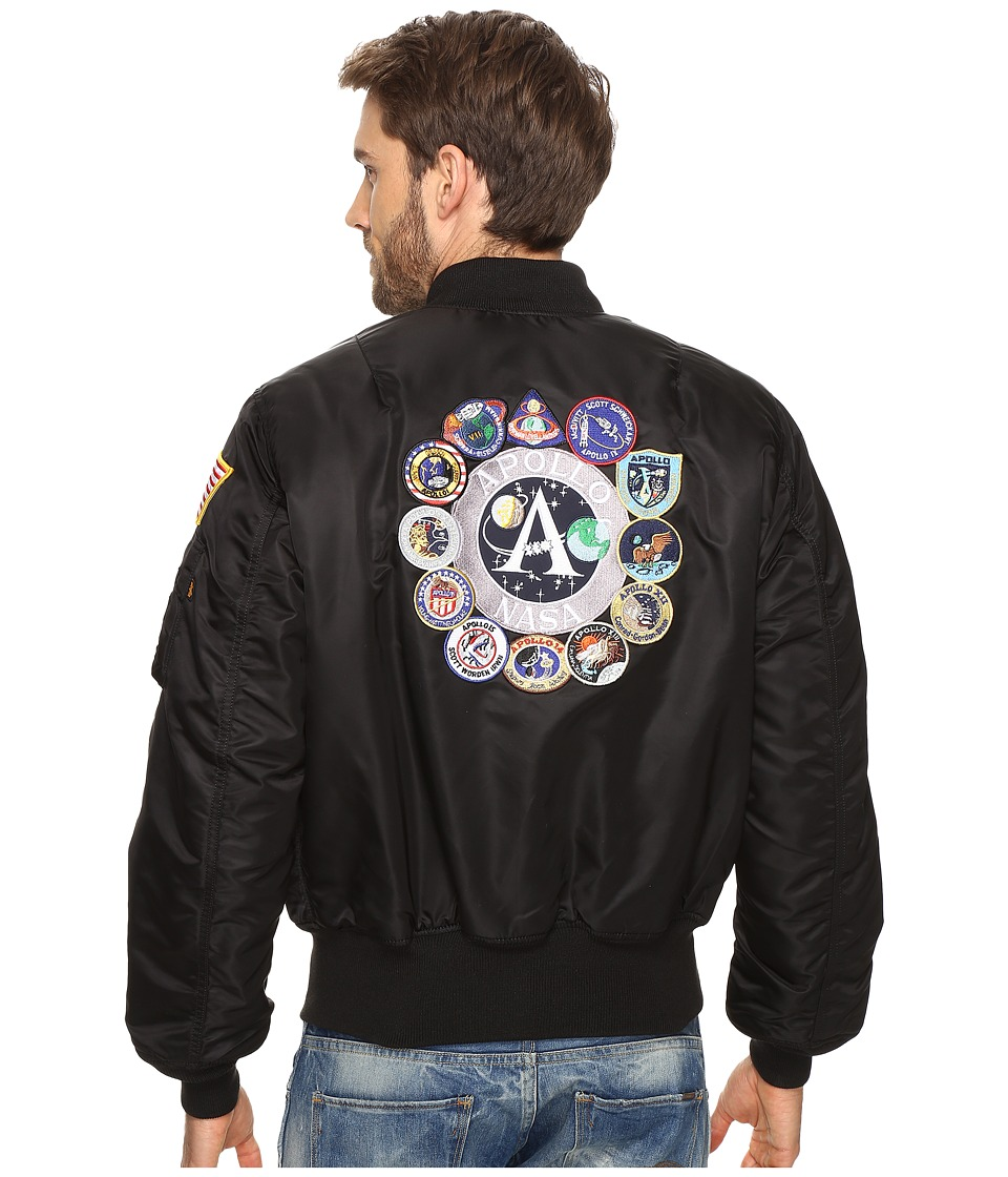 Alpha Industries Apollo MA-1 Flight Jacket (Black) Men's ...