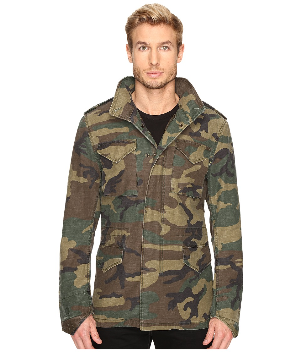 Alpha Industries - M-65 Defender Field Coat (Woodland Camo) Mens Coat