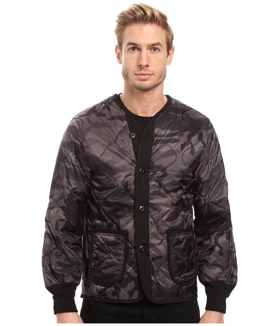 Image of Alpha Industries - Defender Jacket Liner (Black Camo) Men's Coat