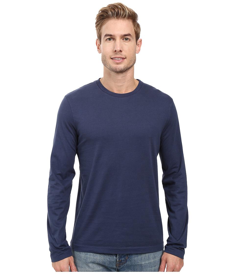 Mod-o-doc - Carlsbad Long Sleeve Jersey Crew Tee (New Navy) Mens T Shirt