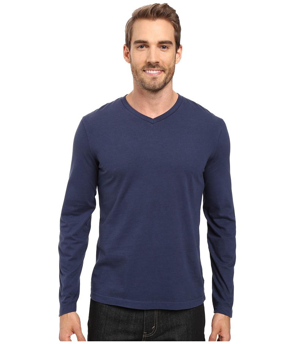 Mod-o-doc - Cardiff Long Sleeve Jersey V-Neck Tee (New Navy) Mens T Shirt