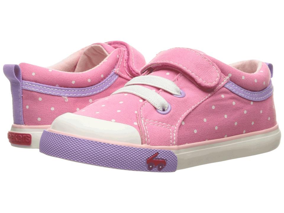 See Kai Run Kids - Kristin (Toddler) (Hot Pink Dots) Girls Shoes