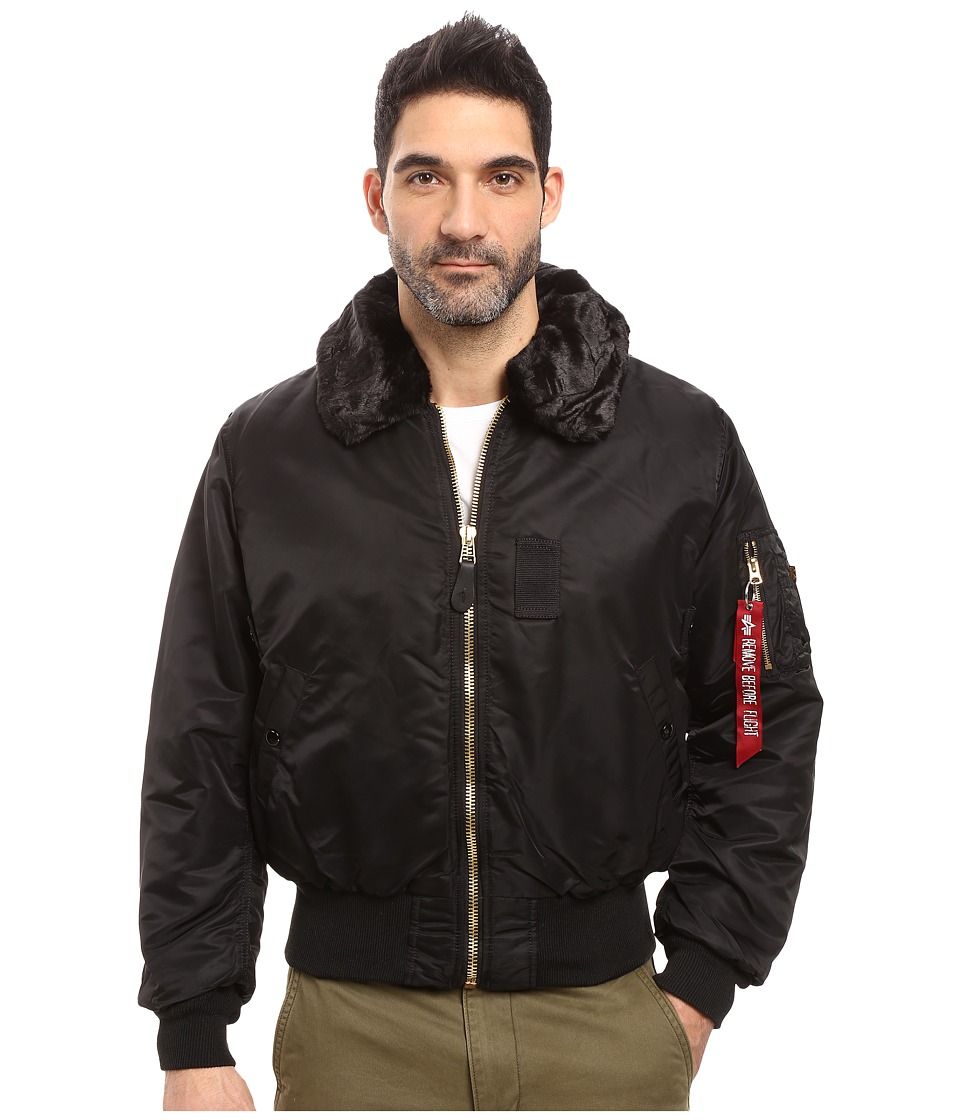 Image of Alpha Industries - B-15 Flight Jacket (Black) Men's Coat