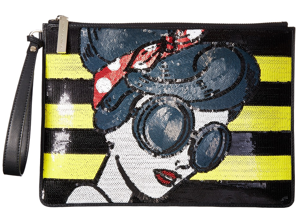 Alice + Olivia - Stace Face Large Zip Pouch with Wristlet (Multi) Wristlet Handbags