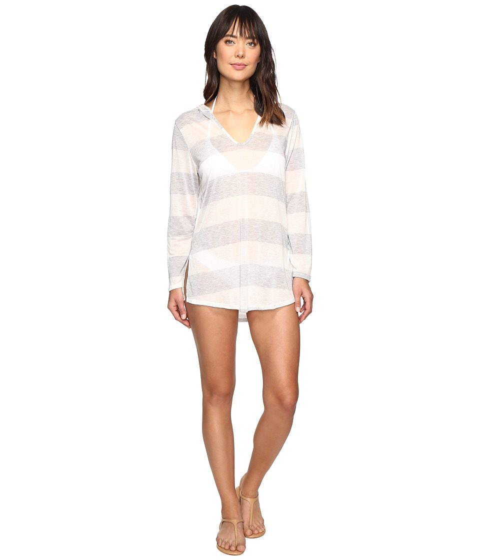 Splendid Homespun Tunic Hoodie Cover-Up (Grey) Women