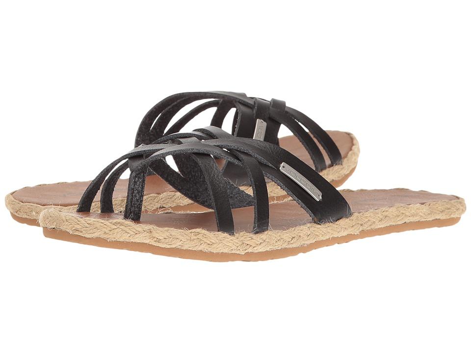 Volcom Check In Sandal (Vintage Black) Women