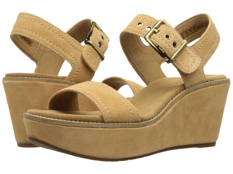 Clarks Aisley Orchid (Light Tan Suede) Women