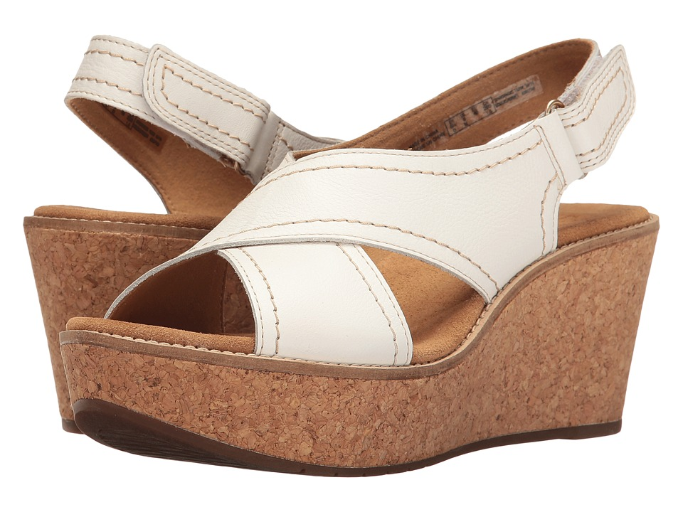 Clarks Aisley Tulip (White Leather) Women