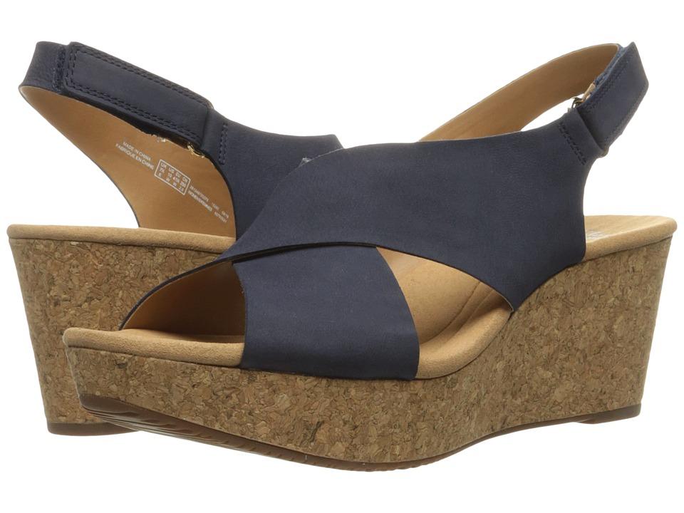 Clarks Annadel Eirwyn (Navy Nubuck) Sandals