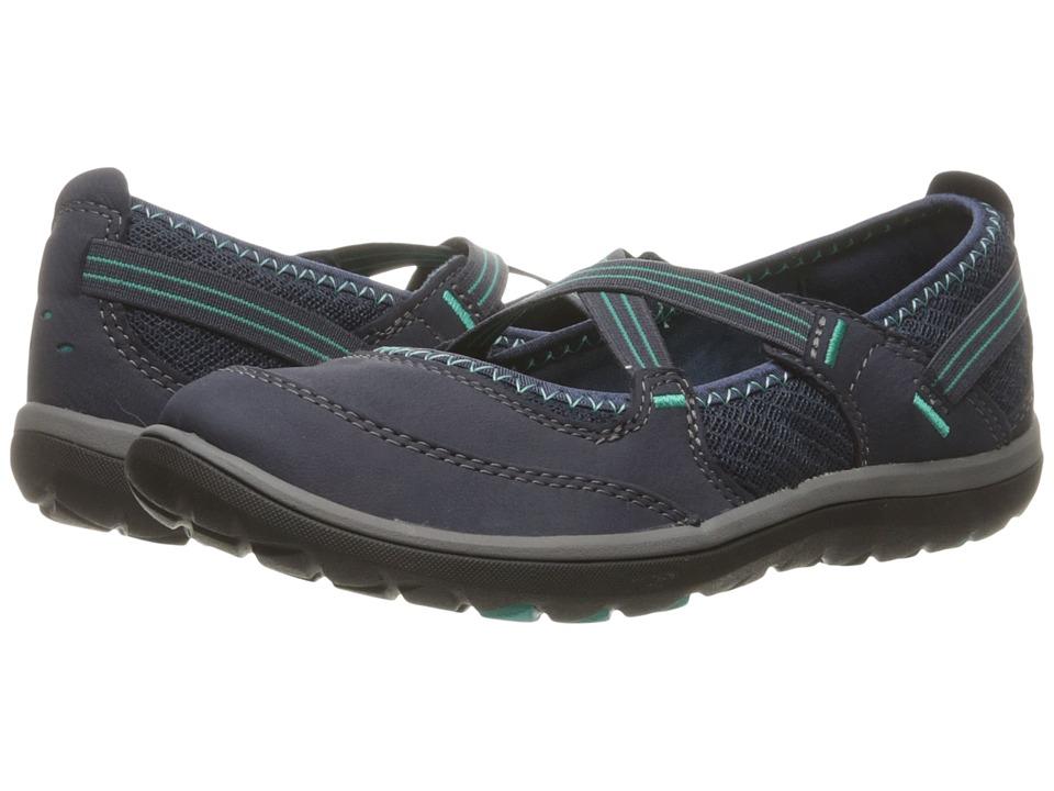 Clarks Aria Maryjane (Navy Nubuck) Women's Maryjane Shoes