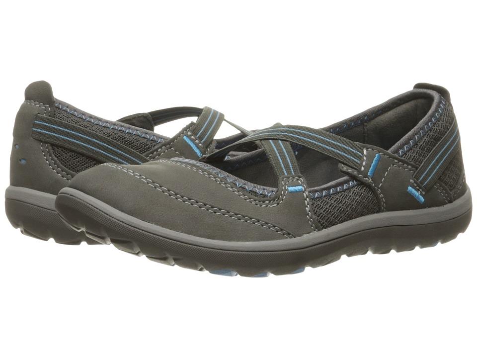 Clarks Aria Maryjane (Dark Grey Nubuck) Women's Maryjane Shoes
