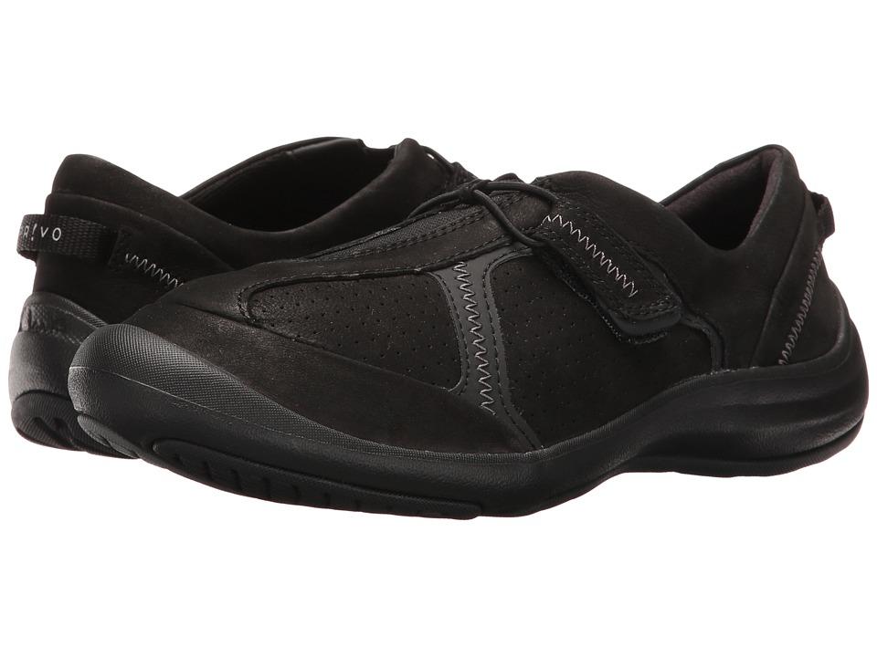 Clarks - Asney Slip-On (Black Nubuck) Womens Slip on  Shoes