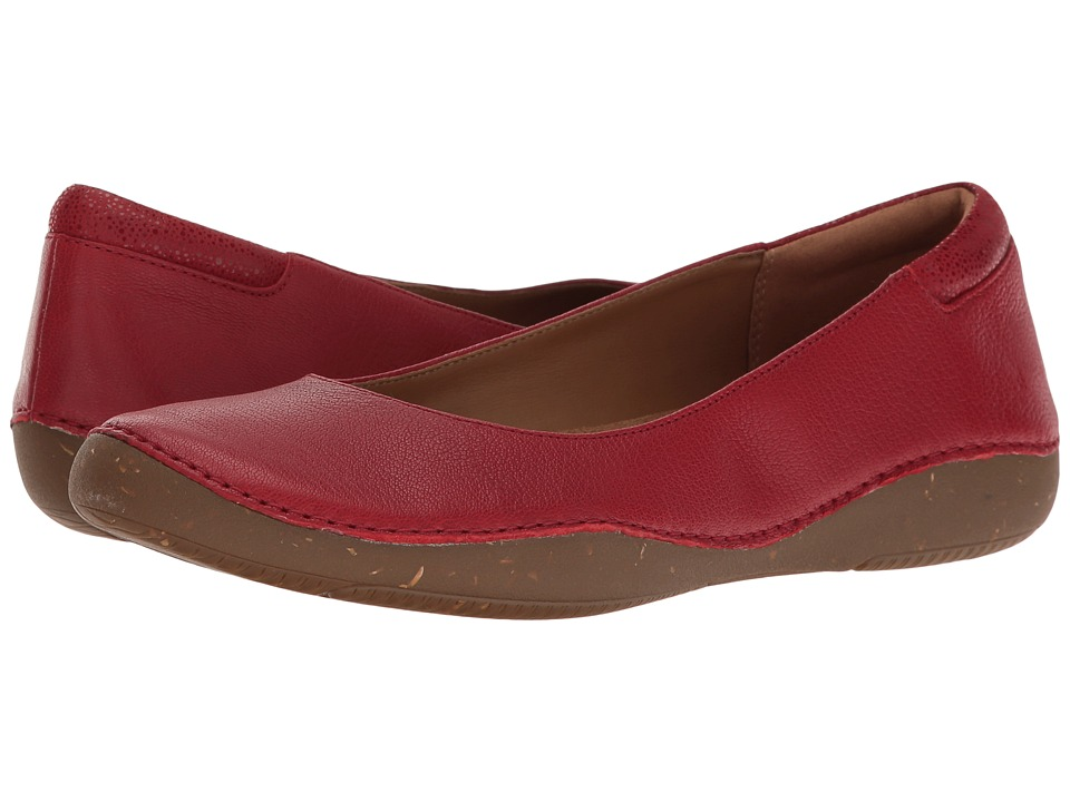 Clarks Autumn Sun (Red Nubuck) Women
