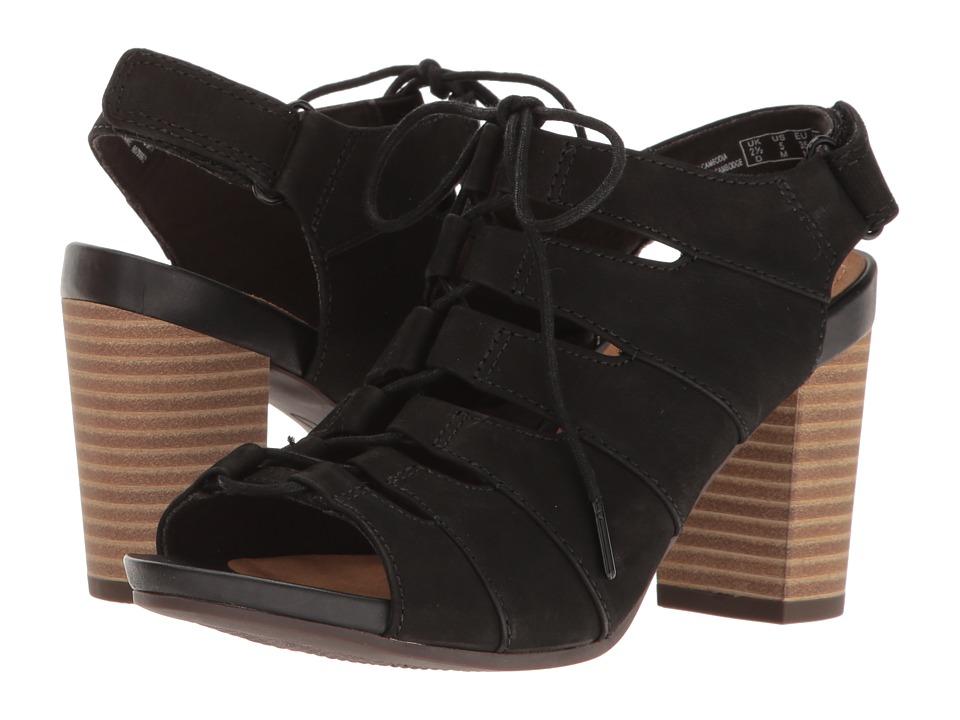 Clarks Banoy Waneta (Black Nubuck) Women's Sandals