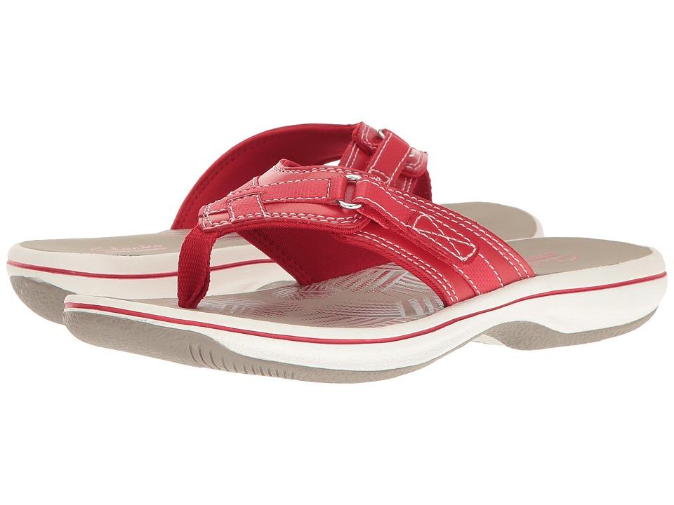 Clarks Breeze Sea (Red) Women's Sandals
