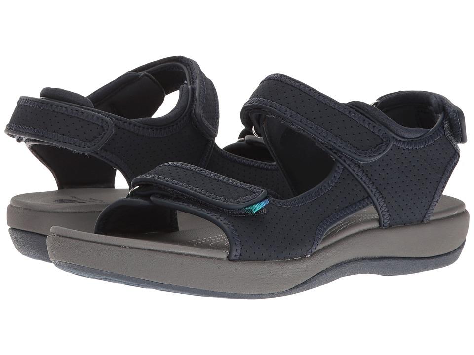 Clarks Brizo Sammie (Navy Perf Microfiber) Sandals