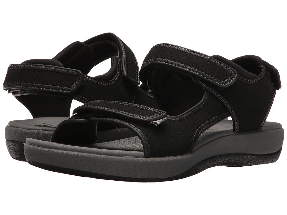 Clarks Brizo Sammie (Black Perf Microfiber) Sandals