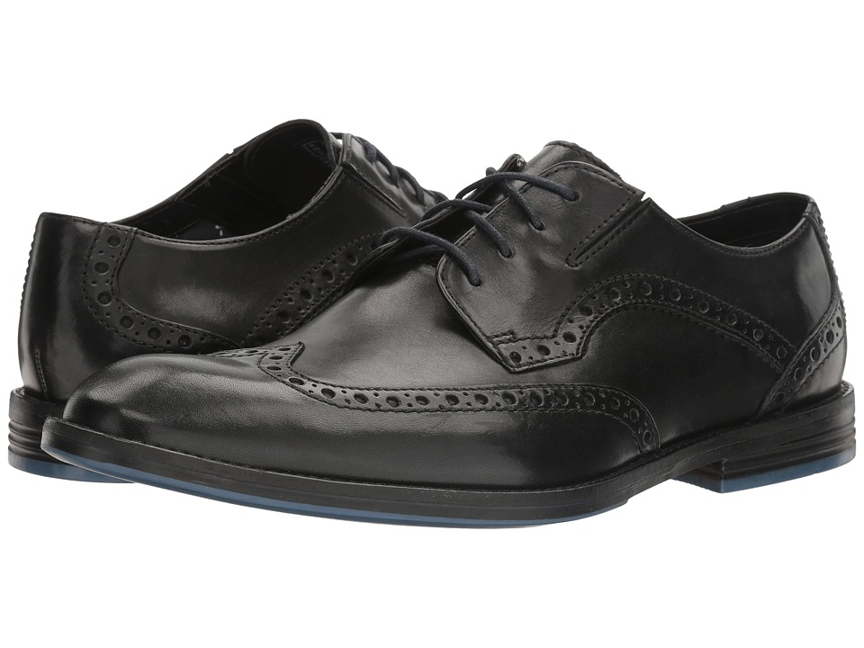 Rockabilly Men's Clothing Clarks - Prangley Limit Black Leather Mens Shoes $120.00 AT vintagedancer.com
