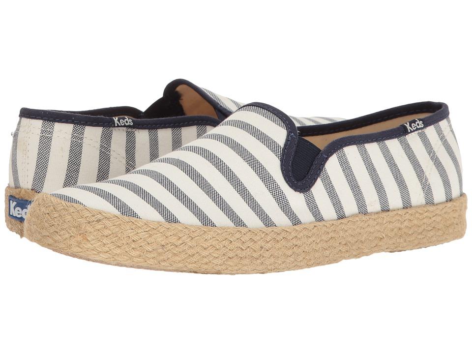 Keds Champion Slip Breton Stripe Jute (Cream) Women
