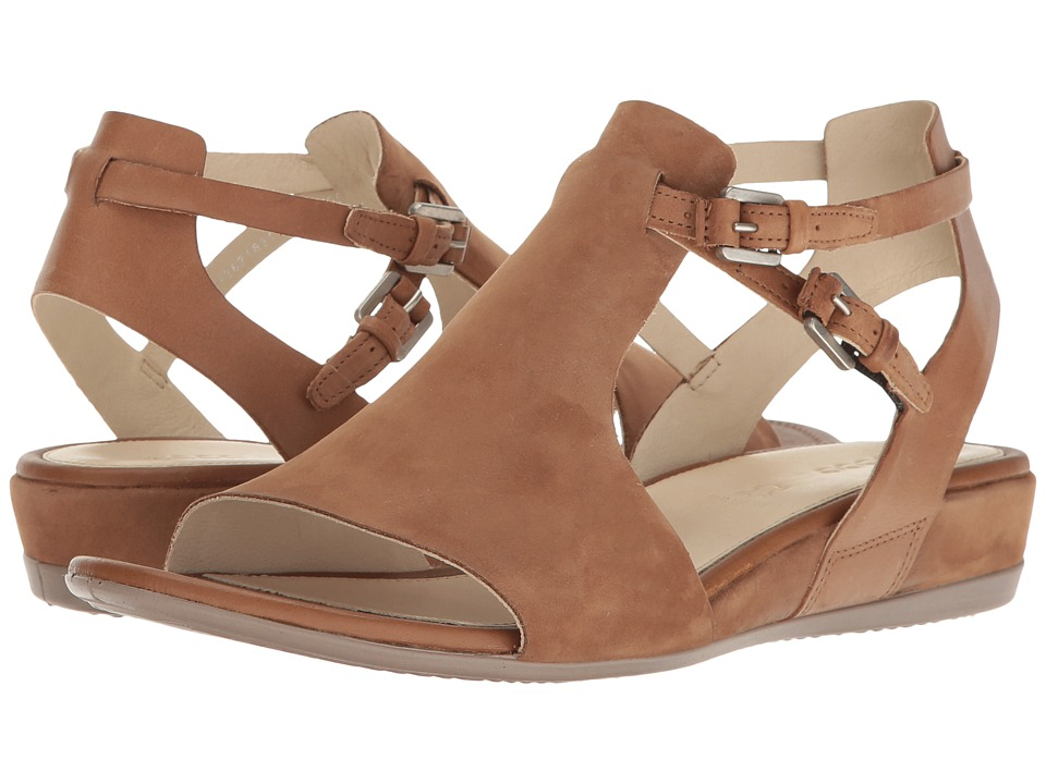 ECCO Touch 25 Hooded Sandal (Camel/Whiskey Muze Cow Nubuck) Women