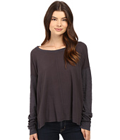 HEATHER - Cotton & Gauze Long Sleeve Boxy Tee