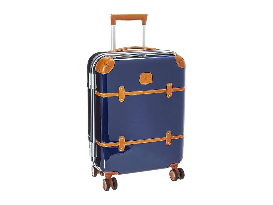 Bric's Milano - Bellagio Metallo 2.0 - 21 Spinner Trunk (Blue) Luggage