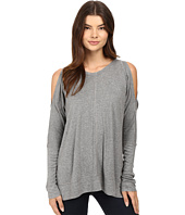HEATHER - Long Sleeve Peekaboo Shoulder Boxy Top
