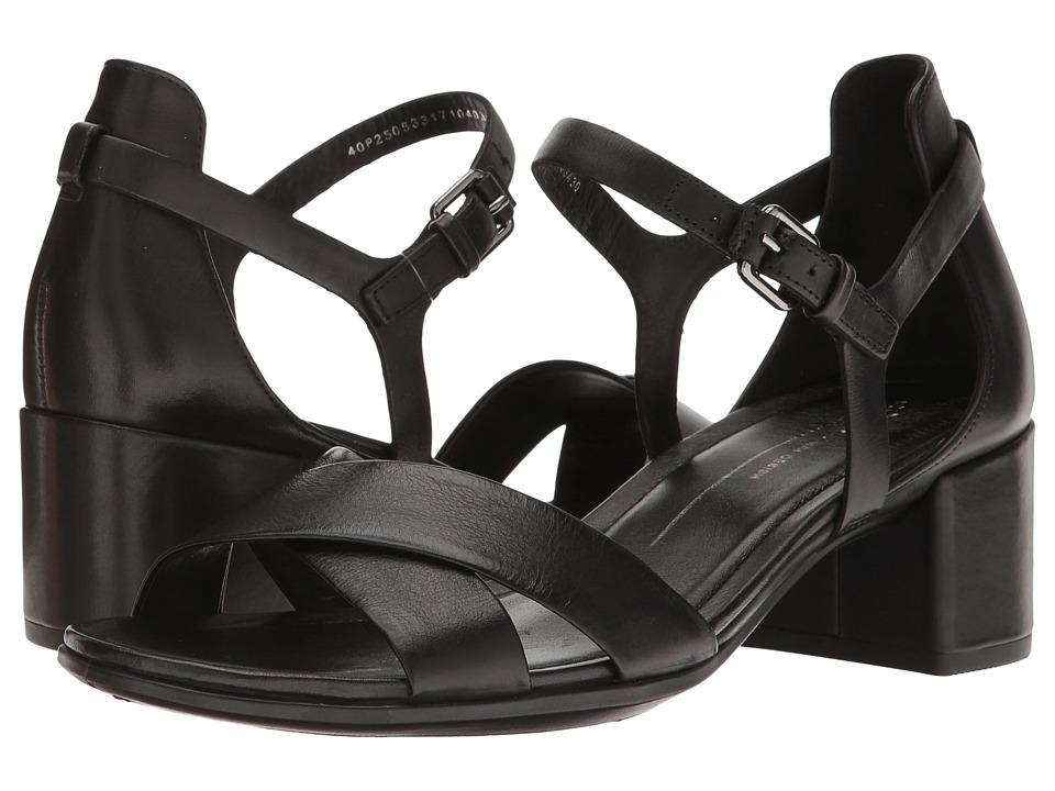ECCO Shape 35 Block Sandal (Black Cow Leather) Women
