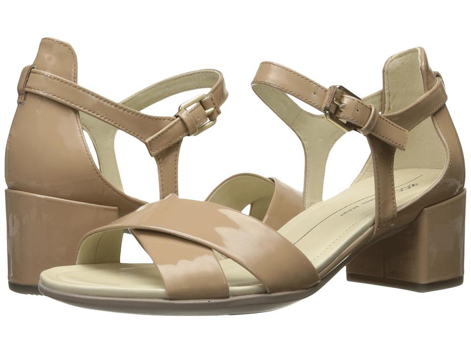 ECCO Shape 35 Block Sandal (Ginger Patent/Cow Leather) Women