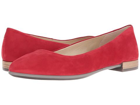 ECCO Shape Pointy Ballerina - Chili Red Calf Nubuck