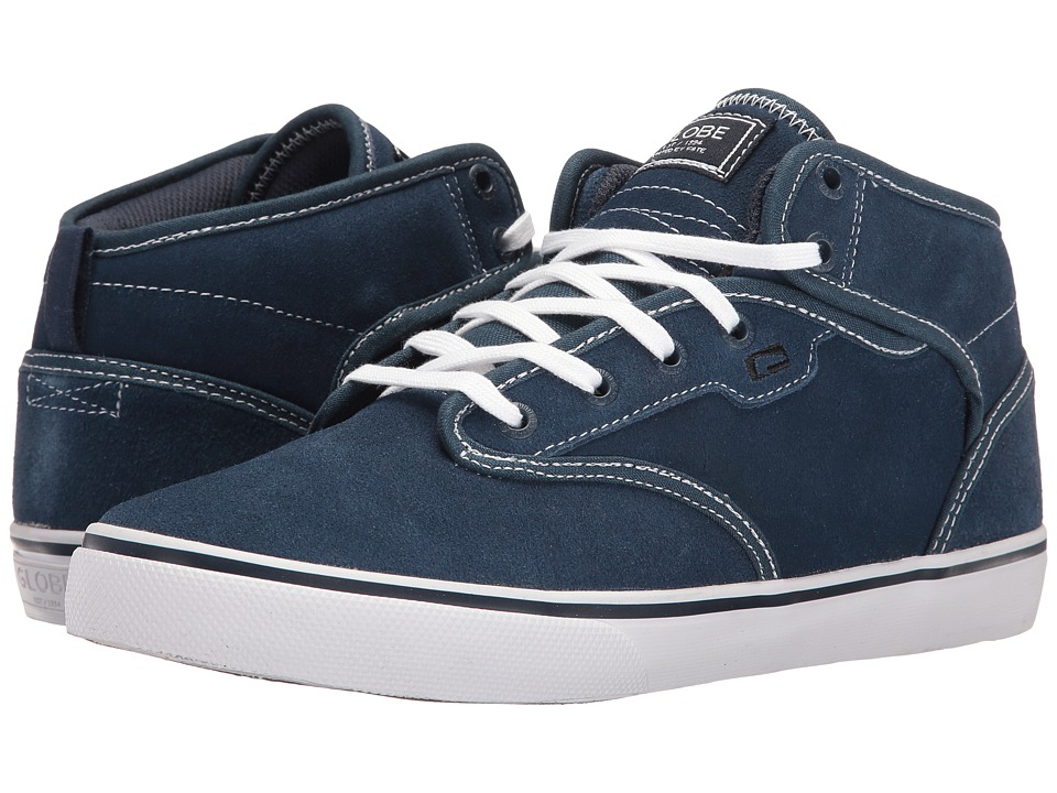 Globe Motley Mid (Blue/White Shaved Suede) Men