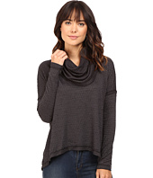 HEATHER - Basket Jacquard Cowl Neck Pullover
