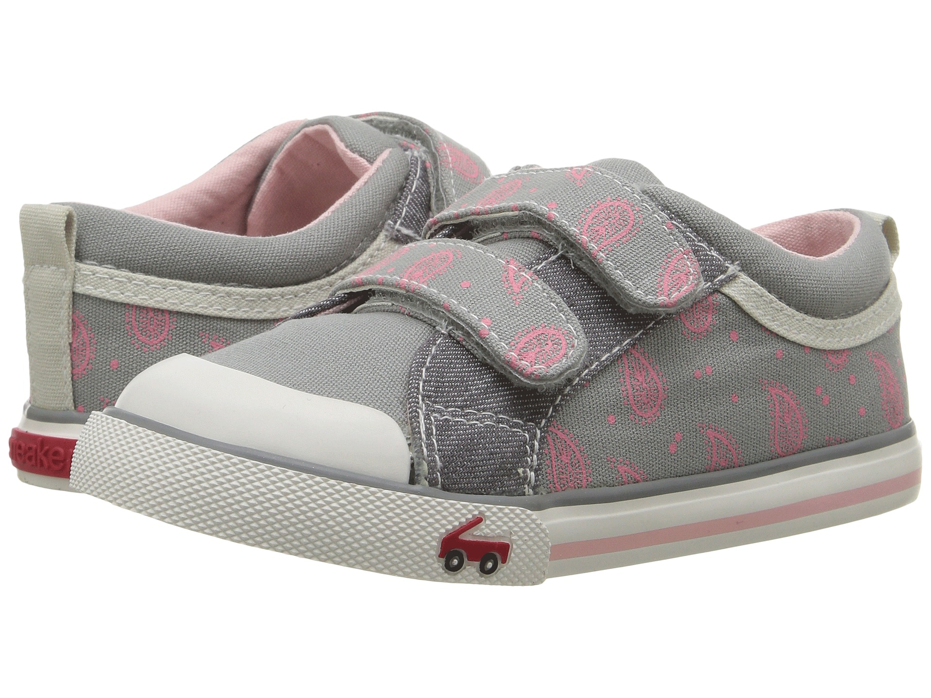 See Kai Run Kids Robyne Toddler Silver Leather Girl's Shoes
