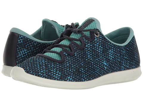 ECCO Sense Sport Sneaker - Navy/Aquatic/Marine Textile/Cow Leather