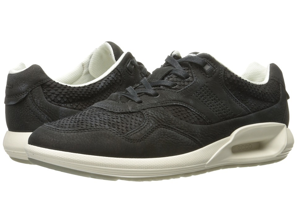 ECCO CS16 Sneaker (Black/Black Cow Nubuck) Women