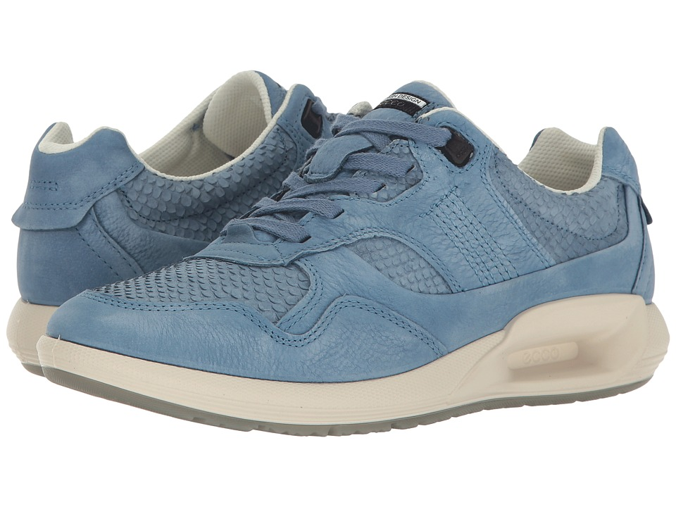 ECCO CS16 Sneaker (Retro Blue/Retro Bliue Cow Nubuck) Women