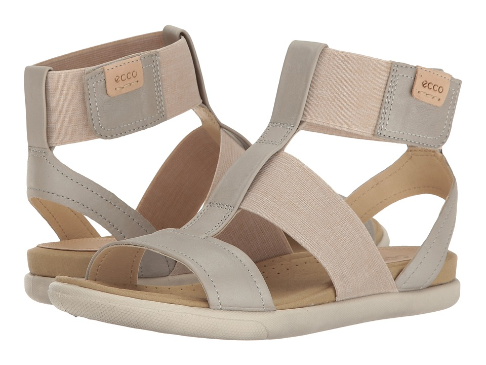 ECCO Damara Ankle Strap Sandal (Gravel/Powder Cow Nubuck) Women
