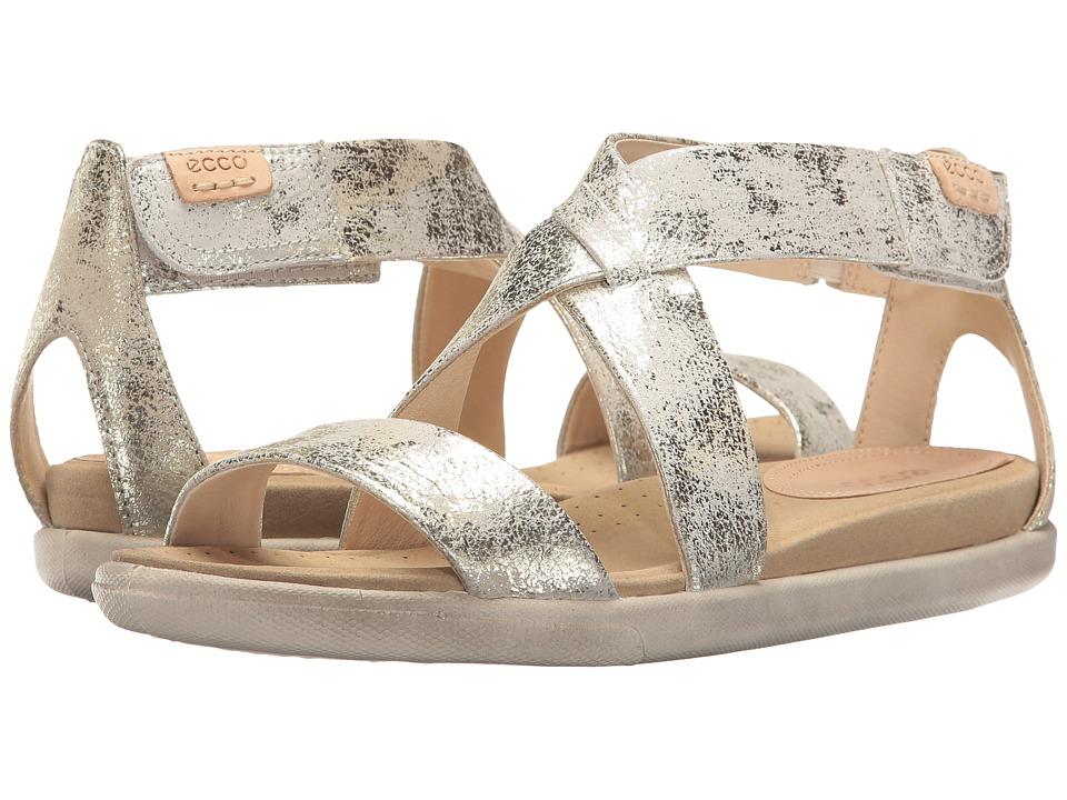ECCO Damara Strap Sandal (Gravel Metallic Cow Suede) Women