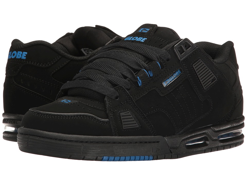 Globe - Sabre (Black/Black/Blue) Mens Skate Shoes