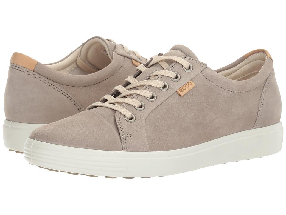 ECCO Soft 7 Sneaker (Warm Grey Cow Nubuck)