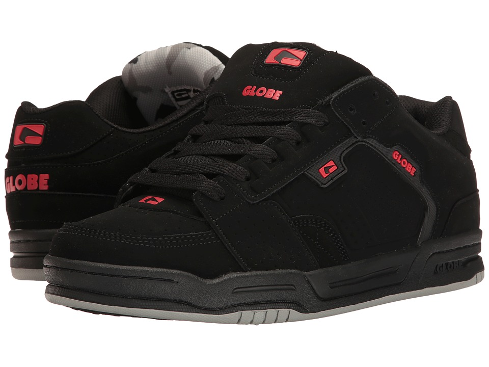 Globe - Scribe (Black/Black/Red) Mens Skate Shoes