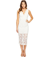 JILL JILL STUART - All Over Lace Deep-V Midlength Dress