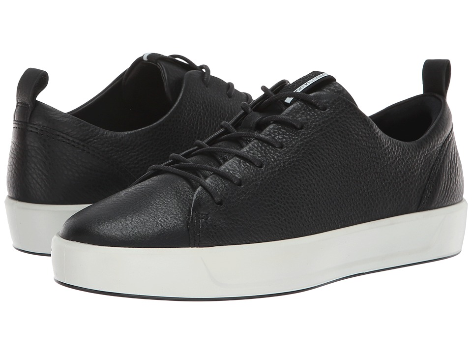 ECCO Soft 8 Sneaker (Black Cow Leather)