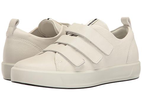 ECCO Soft 8 Strap Sneaker - White Cow Leather