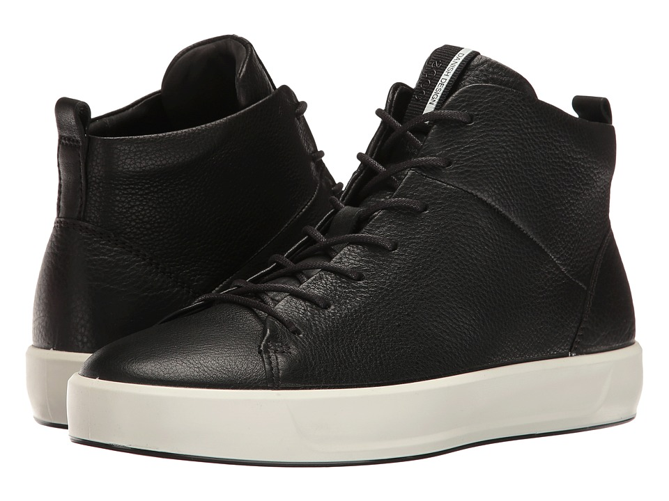 ECCO Soft 8 High Top (Black Cow Leather)