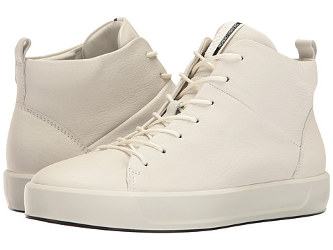 ECCO Soft 8 High Top - White Cow Leather