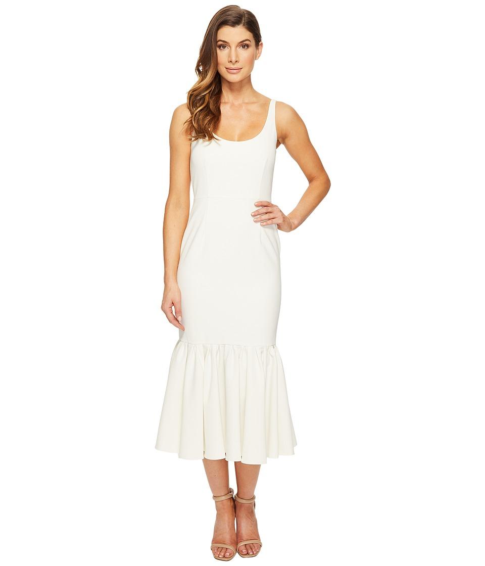 JILL JILL STUART Scoop Neck Pleated Elastane Mermaid Dress (Off-White) Women