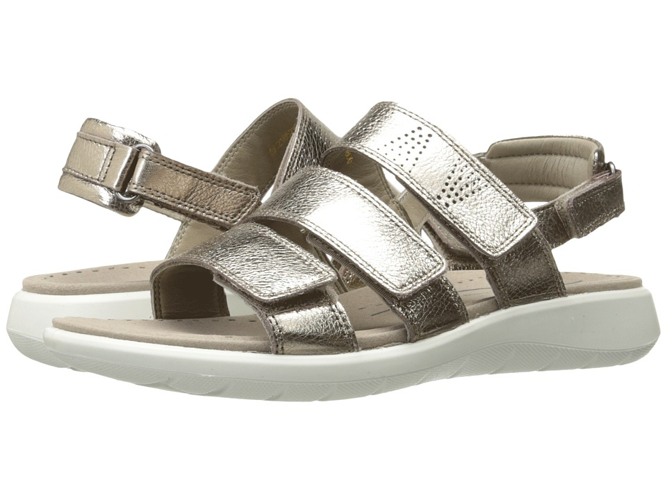 ECCO Soft 5 3-Strap Sandal (Warm Grey Cow Leather) Sandals